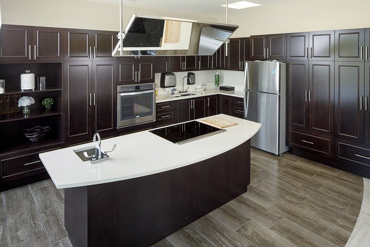 A kitchen at Stirling Park Retirement Community